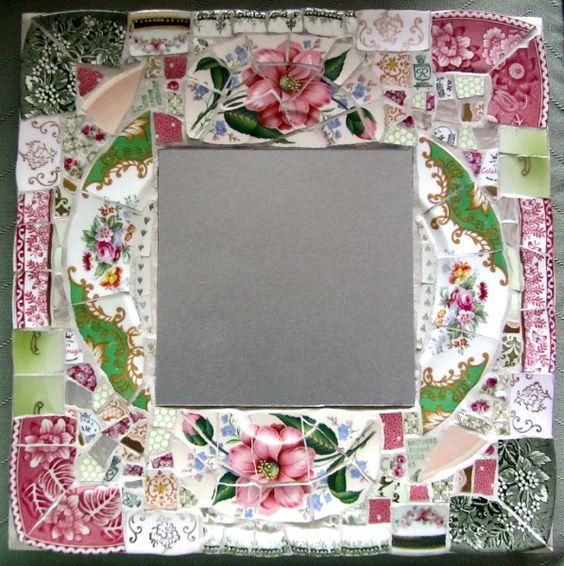 broken china  mosaic mirror