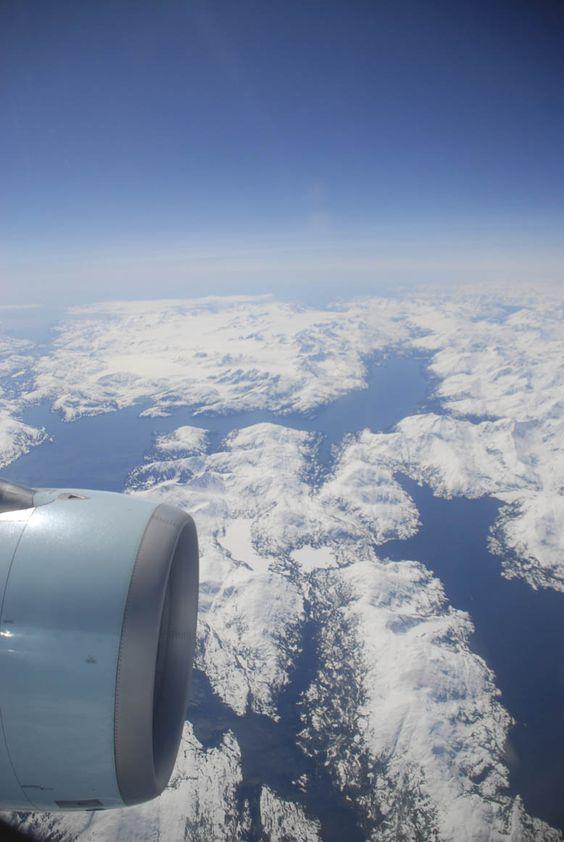 Vista de #Alaska desde el avión.