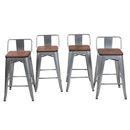 24 Low Back Metal Counter Stool Height Bar Stools With W Https Smile Amazon Com Dp B076d7qwsw Ref Cm S Metal Counter Stools Bar Stools Outdoor Bar Stools