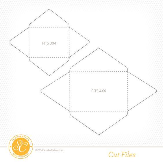 Free 4x6 & 3x4 Envelope Cut Files at @Studio_Calico   Die Cutting ...