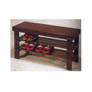 Wooden Shoe Bench: