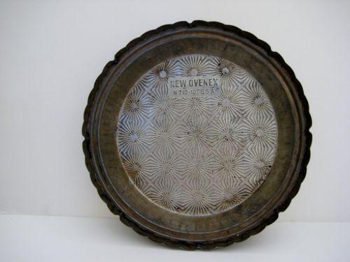 Vintage New Ovenex 10\  Pie Plate Fancy Pressed Tin 8 Slice Pan RARE Made in USA   eBay   Ovenex   Pinterest   Pressed tin Pie plate and Pies & Vintage New Ovenex 10\