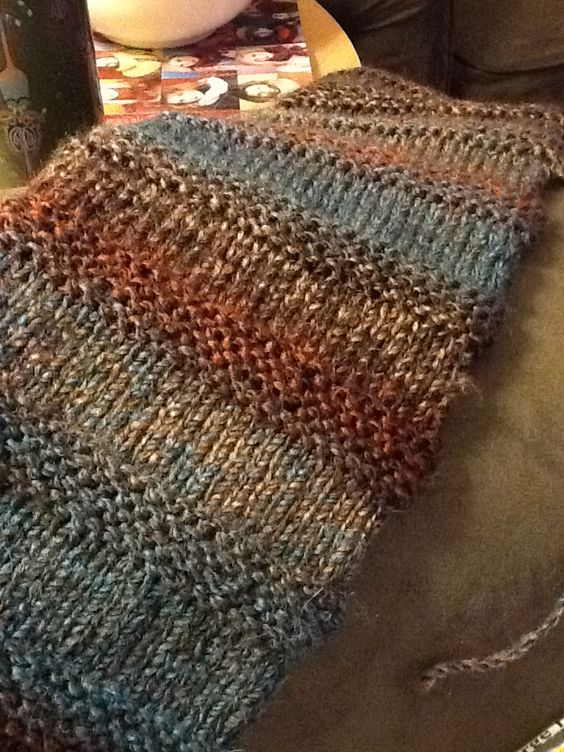 Very cute! 30 and 8 Scarf: cast on 30 stitches, alternate 8 rows for garter s...