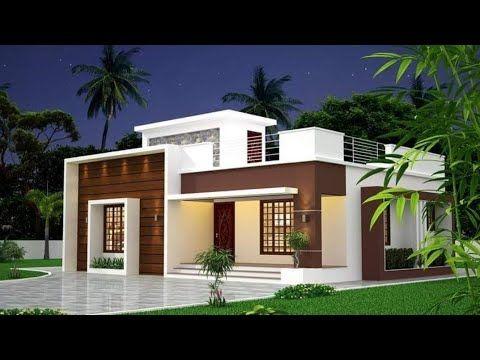 800 Sq Ft 2 Bedroom Modern Single Floor House And Plan Youtube In 2020 Modern House Facades Single Floor House Design Kerala House Design