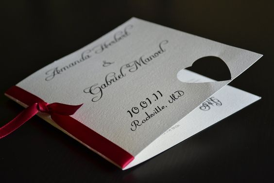Simple Square Wedding Program. $1.50 USD, via Etsy.