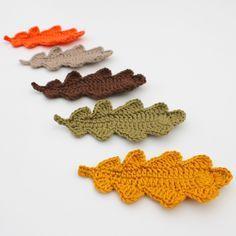 Eikenblad haken | draadenpapier | Gratis patroon van In the Yarn Garden