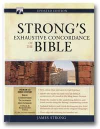 Strong's Exhaustive Concordance Of The Bible. Helps with studying.