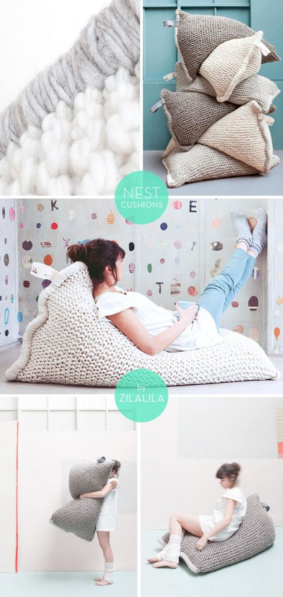 Big Comfy Floor Pillows : Nests, Cushions and Bean bag pillow on Pinterest