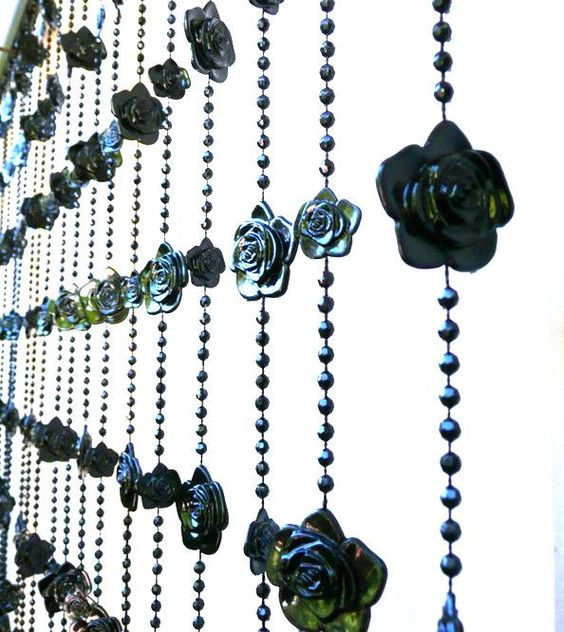 Gothic Black Roses Beaded Curtain | Beaded Curtains | Pinterest ...