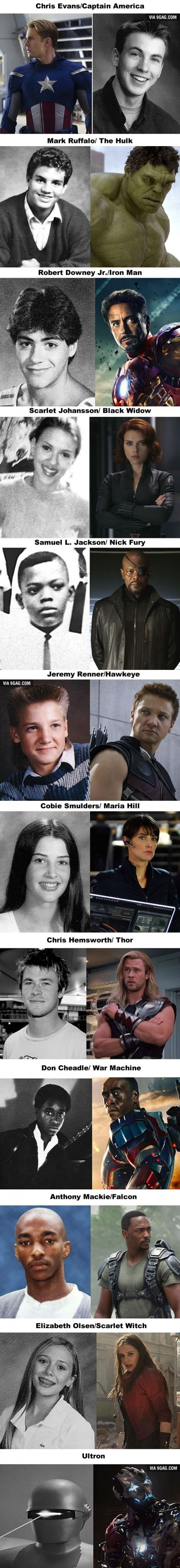 What the Cast of The Avengers: Age of Ultron Looked Like in High School<<<<Where's Pietro?!