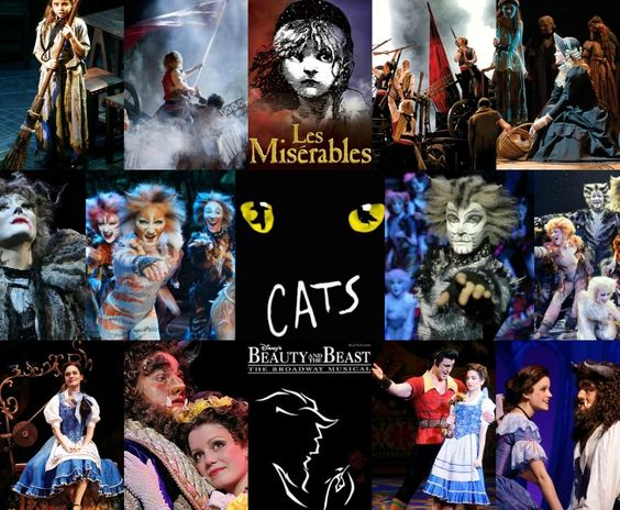 Les Miserables ~ Cats ~ Beauty and the Beast