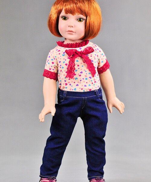 Aliexpress.com: Comprar Ropa para 18 pulgadas muñeca americana camiseta y los pantalones vaqueros 1 Unidades muñeca ropa muñeca del desgaste pantalones de la camiseta envío libre de pantalones vaqueros de mujer fiable proveedores en Shenzhen Ms Lady store