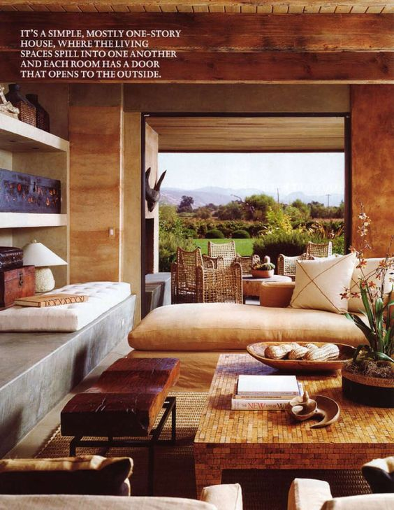 Beautiful eclectic chic living room with amazing views a for Eclectic chic living room