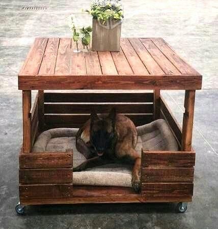 Dog Houses Made With Upcycled Wood