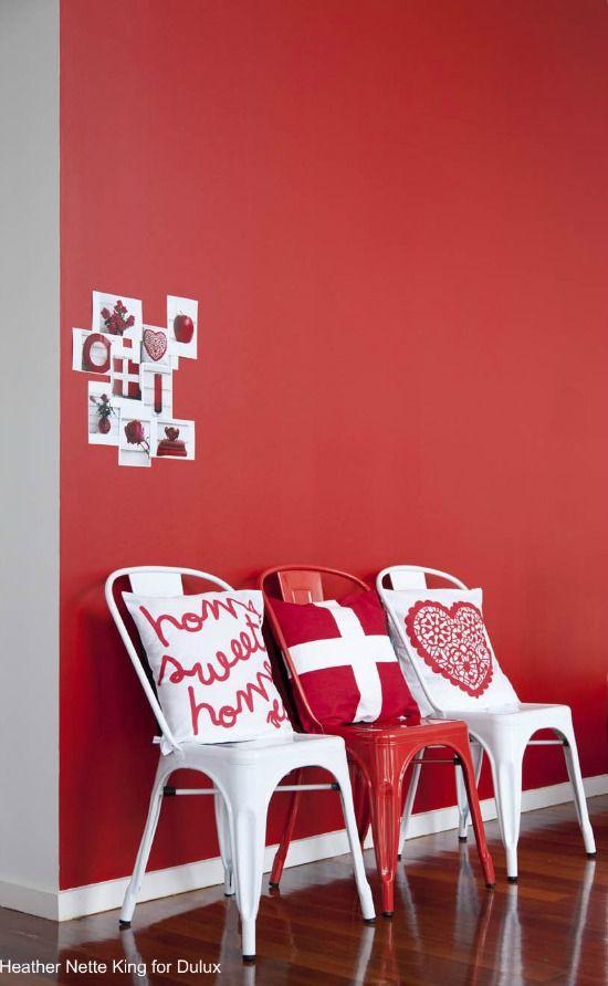 inrichting-rood gecombineerd met wit