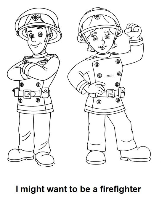 """Firefighter Coloring Pages: """"I Might Want To Be A Firefighter"""" Coloring Page"""
