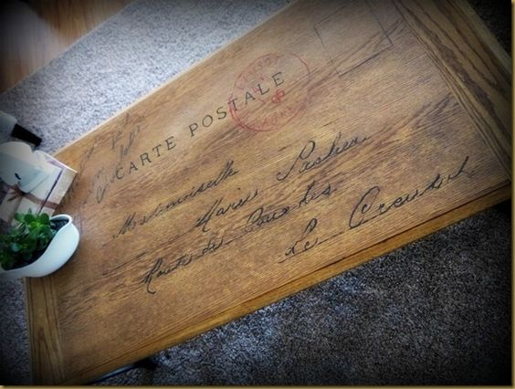French Postcard Coffee Table