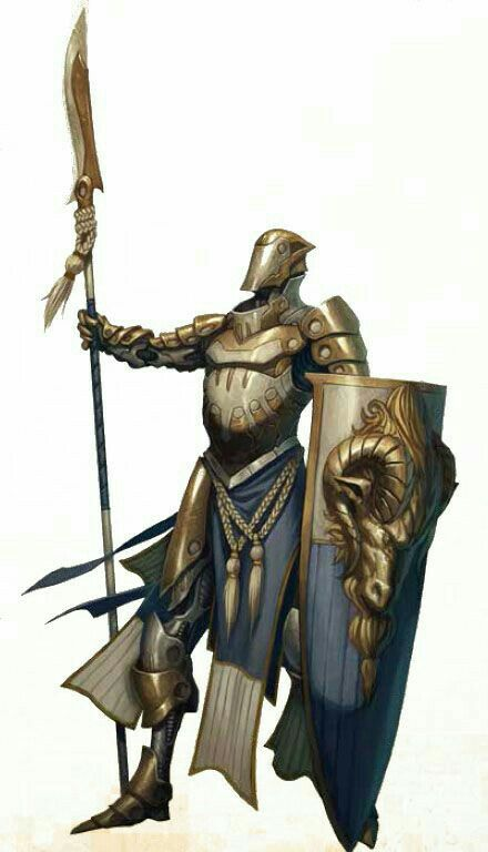 Fighter / Knight with Polearm and Shield - Pathfinder ...