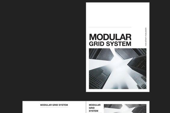 Modular Grid System A4 Grid System Publisher Templates Grid
