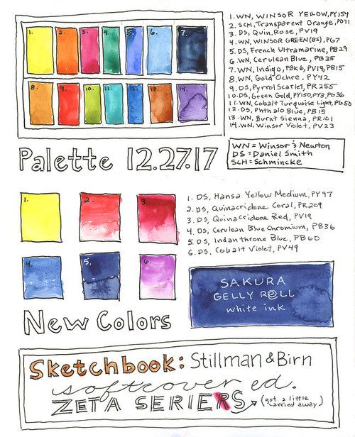 Basic Watercolor Palette 12 Essential Colors Watercolor Kit
