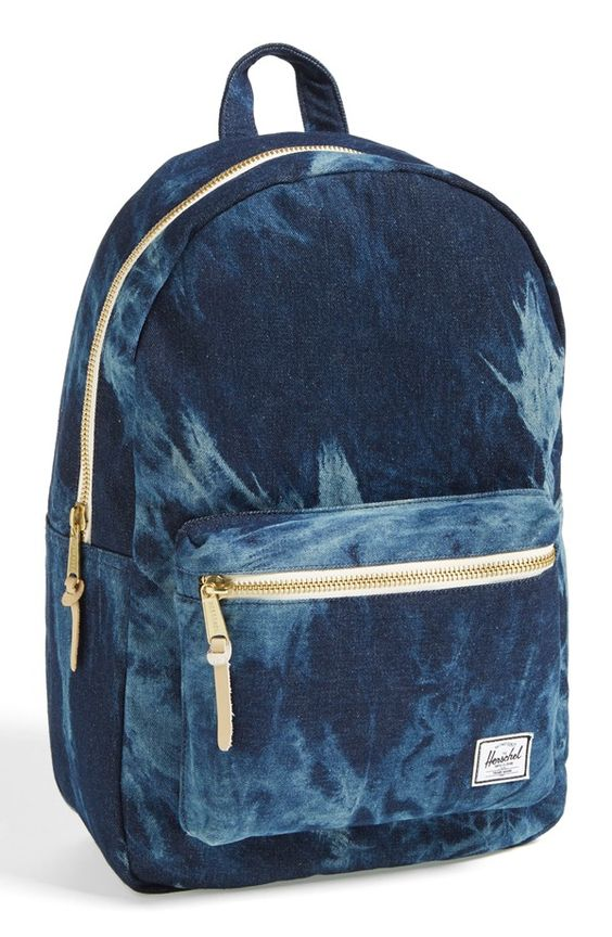 Distressed denim Herschel backpack