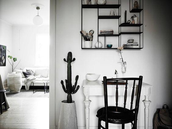small workspace in ceramist Elin Lannsjös stunning home, via http://www.scandinavianlovesong.com/