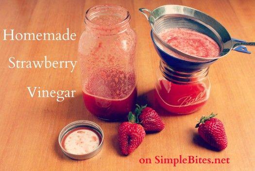 Homemade Strawberry Vinegar.: