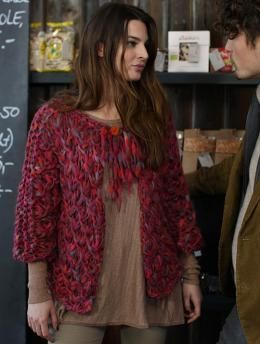 Knitting Pattern Boxy Jacket : Boxy Jacket, W0004 - Free Pattern knit womens short-sleeved cardigans/...