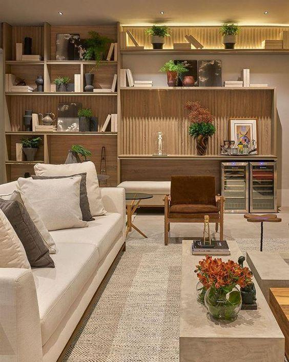 Estantes para Sala com 50 Modelos que estão em Alta — Decoração de Casa