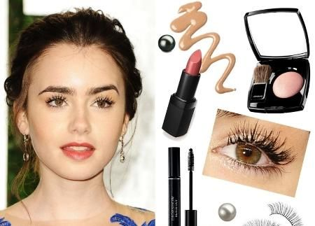 Hottest Celebrity Makeup Looks - Lily Collin