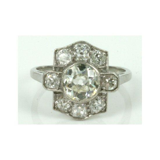 Vintage diamond ring, $9,250, Kalmar Antiques