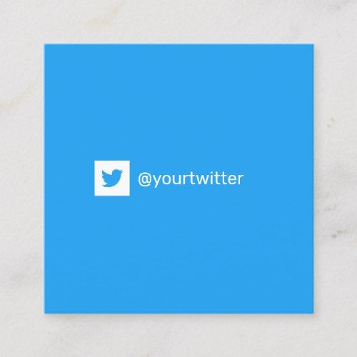 Pin On Twitter Business Card Templates