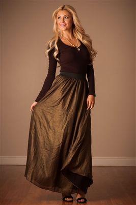 Gold Full Length Maxi Skirt, Vintage Dress, Church Dresses, dresses for church, modest bridesmaids dresses, trendy modest, modest office clothing, affordable boutique dresses, cute modest dresses, mikarose, modest skirts, pink dress