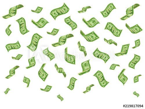 Falling Banknotes Wealth Money Denominations Rain Falling Dollar Bills And Raining Dollars Vector Cartoon Concept Illustrat Bank Notes Bills Fall Dollar Bill