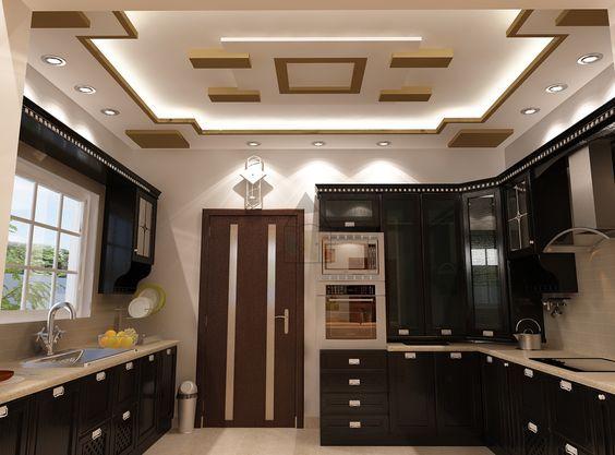 Amazing The Best Kitchen Interior Design With Lights Modern Pop False Ceiling Designs For Kitchen In Kitchen Ceiling Design False Ceiling Design Ceiling Design