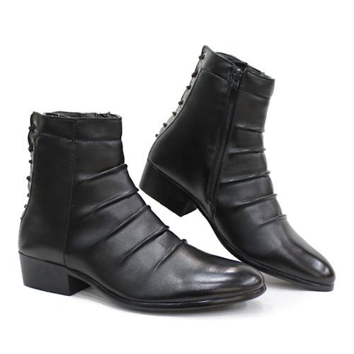 Best Stylish New Black Goth Punk Fashion Dress Ankle Boots Men ...
