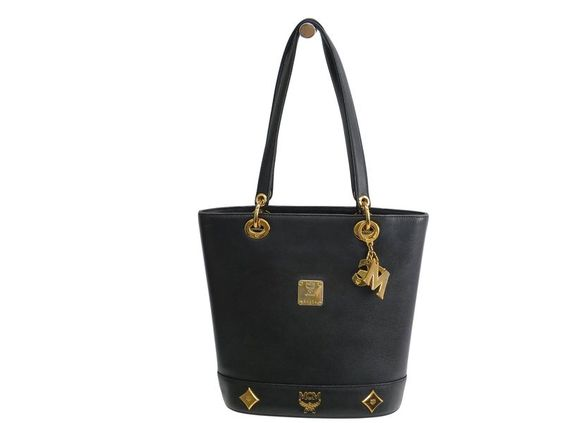 #MCM Shoulder Bag Leather Black (BF104459): #eLADY global offers free shipping worldwide. For more pre-owned luxury brand items, visit http://global.elady.com