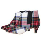 Tartan Chelsea Boots- custom made. Mine would be in Clan MacPherson, ancient.