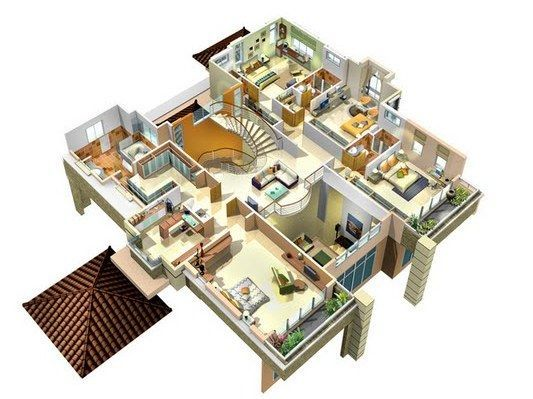 3 Bedroom Bungalow Plan House In Kenya Architecture Pinterest Desain Interior Interior Desain