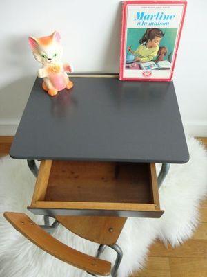 bureau vintage premier age bureau ecolier petit enfant. Black Bedroom Furniture Sets. Home Design Ideas