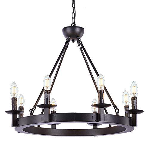 wellmet black farmhouse chandeliers