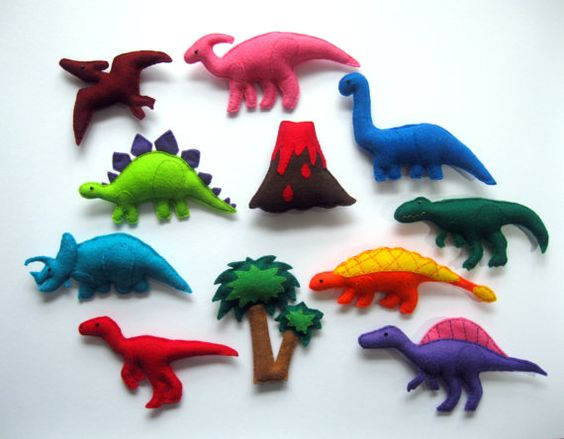 Felt  Dinosaurs  -  Magnet Dinosaurs , Fridge magnets , Baby toy , Kids felt magnet