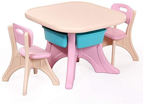 Oureong Kids Desk Kids Table Amp Chair Set Toys Children S Multi Coloured Table Chairs Sets Student Desk In 2020 Kids Table Chair Set Kids Table And Chairs Kid Table