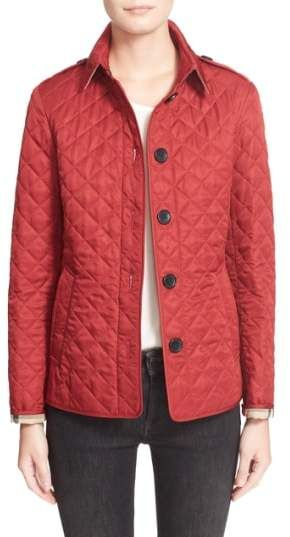 Burberry Ashurst Quilted Jacket A Trim Fitting Jacket Exudes Heritage Polish With Diamond Quilting Shou Quilted Jacket Burberry Jacket Women S Coats Jackets