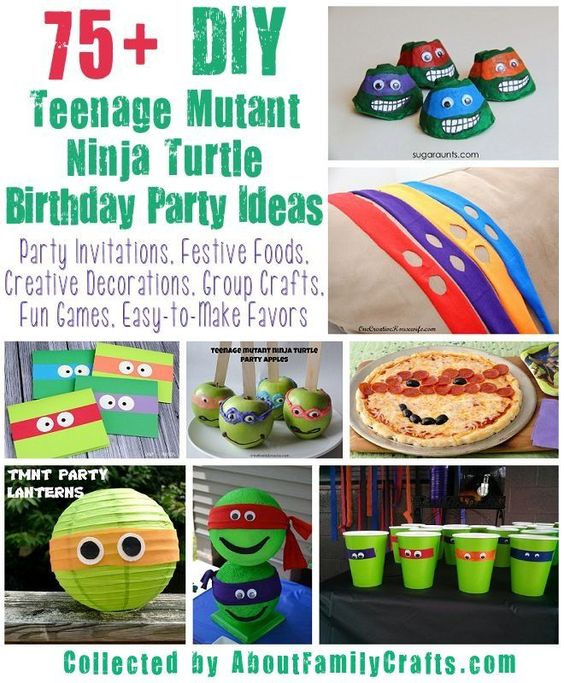 Family Crafts, Ninja Turtle Party And Birthdays On Pinterest