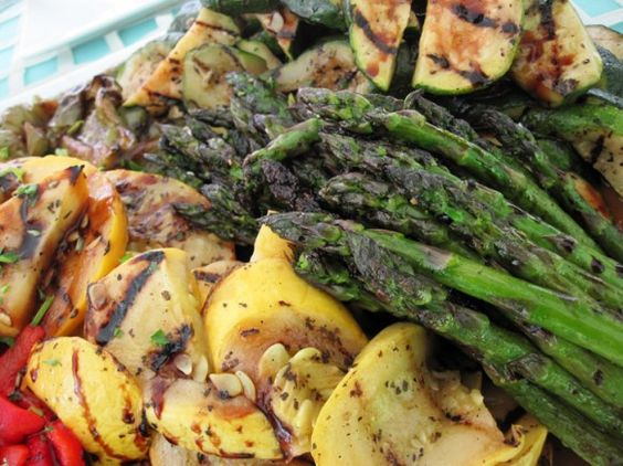 grill, grilled vegetables, vegetables, asparagus, squash, peppers, appetizer, side, catering, food