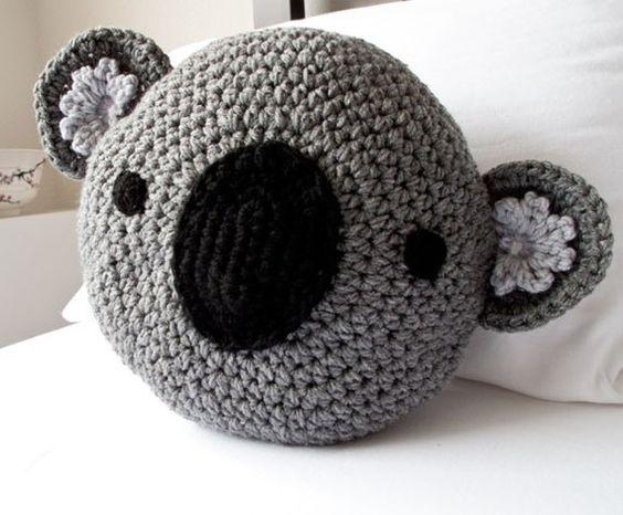 CROCHET KOALA PILLOW Knit & Crochet