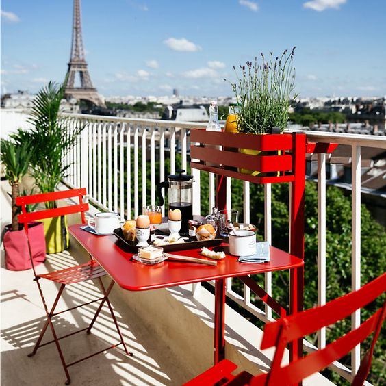 Parisian Balcony with Fermob Furniture Set
