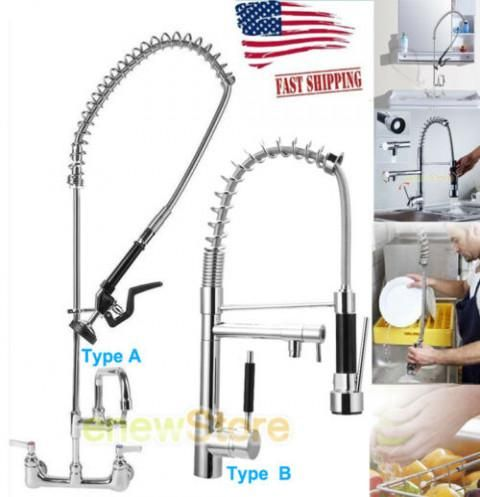 40 49 Hot Commercial Kitchen Restaurant Pre Rinse Faucet Swivel W 12 19add On Faucet Other Kitchen Dining Ite Commercial Kitchen Retro Kitchenware Faucet