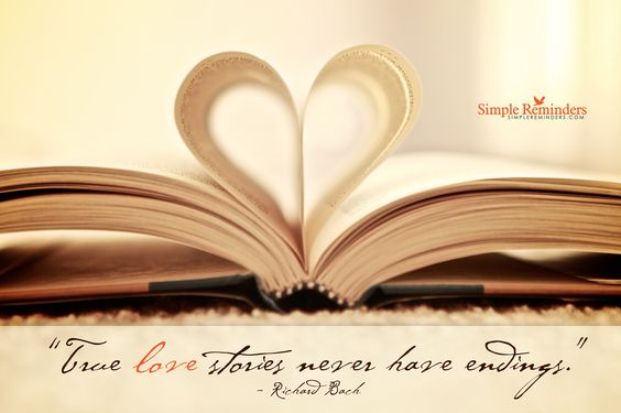 True love stories love quotes heart book never stories endings